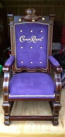Rare Crown Royal Kings Chair